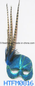 Muliti-Color Personal Decoration Party Turkey/Ostrich Feather Mask pictures & photos
