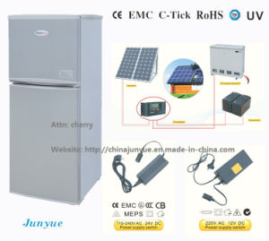 DC12V 24V Upright Solar Power Refrigerator (BCD-106L) pictures & photos