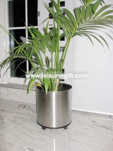 Fo-9003 Cylinder Stainless Steel Flower Planters pictures & photos