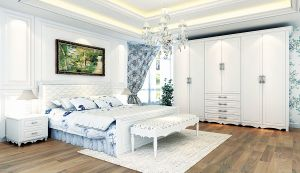 2013 The Newest Design Bedroom Furniture Set with European Style (AES000)