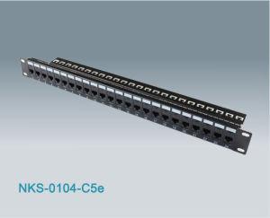 24 Port RJ45 Cat5e UTP Modular Patch Panel (NKS-0104-C5e)