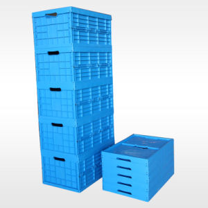 L600xw400xh295mm Folding Plastic Storage Container pictures & photos