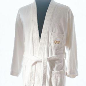 White Terry Cotton Hotel Bathrobe / Pajamas with Embroidery Logo