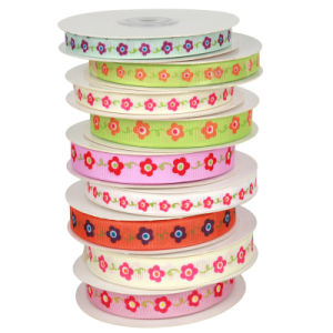 Flower Grosgrain Ribbon pictures & photos