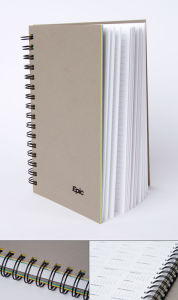 Custom Soft Cover Grey Colour Spiral Notebook (YY-N0050) pictures & photos