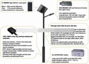 80W Solar LED Street Light pictures & photos