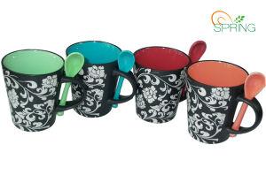 Stoneware Mug with Spoon (SPMUG001)
