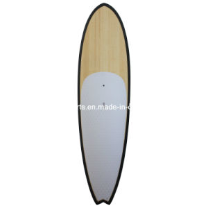 Bamboo Veneer Popular Stand up Paddle Board/Sup Surfboard with Fiberglassing Structure pictures & photos