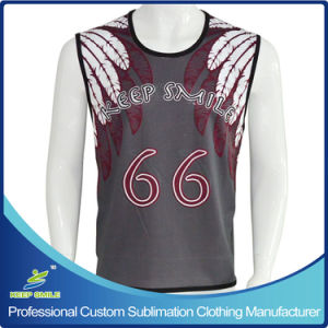 Custom Sublimation Men′s Lacrosse Single Ply Reversible Pinny pictures & photos
