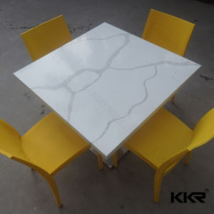 Faux Stone Dining Table Marble Top Food Court Table pictures & photos