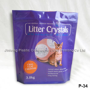 Plastic Packaging Cat Litter Bag with Zipper pictures & photos