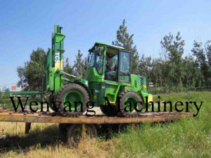 5000kg 4m Lifting Height Rough Terrain Forklift pictures & photos