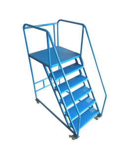 Movable Foldable Warehouse Step Ladder Cart pictures & photos