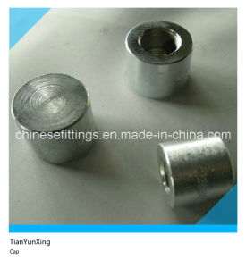 Carbon Steel Pipe Fittings Round Head Forged Female Threaded Cap pictures & photos