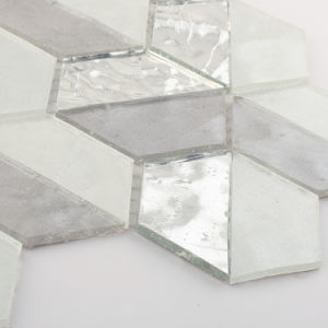 Building Material White and Silver Crystal Stained Glass Mosaic Tiles pictures & photos