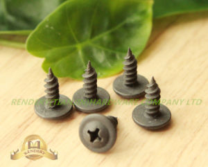Modified Truss Head Cross Recess Fine Thread Black Phosphate Self Tapping Serrate Screw pictures & photos