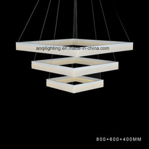3 Rings Square LED Acrylic Modern Pendent Light pictures & photos