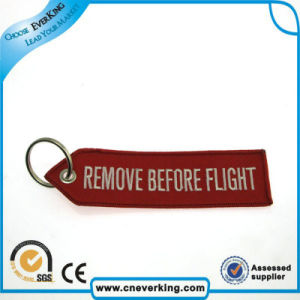 Customized Remove Before Flight Embroidery Keychain (key Tag) pictures & photos