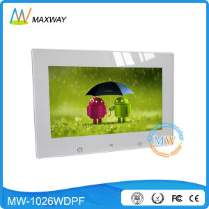 Android Touch Screen WiFi Wireless 10inch Glass Digital Photo Frame Viewer pictures & photos