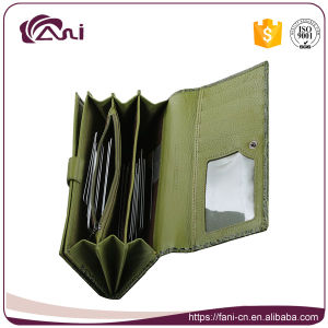 Fani Green Color Multipurpose Fashion Women Purse Wallet for Ladies pictures & photos