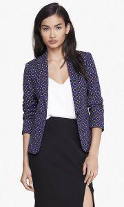 One Button Fashion Print Design Ladies Blazer pictures & photos