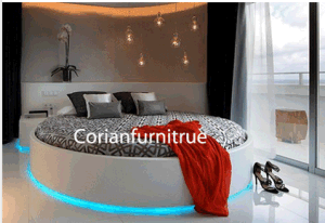 High Quality Corian Solid Surface Hotel Room Bed Sets pictures & photos