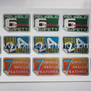 Silver Pet Die Cut Electrical Label Sticker pictures & photos