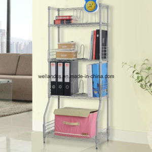 NSF Approval DIY 4 Tiers Chrome Metal Wire Book Storage Rack pictures & photos