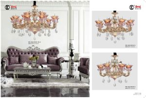 Gold Zinc Alloy Crystal Chandelier Light pictures & photos
