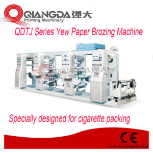 Qdtj Series Cigarette Package Bronzing Machinery pictures & photos