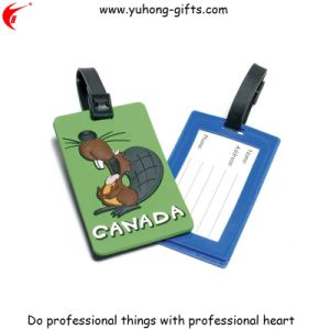 Soft PVC Luggage ID Name Tag for Promotion (YH-LT018) pictures & photos