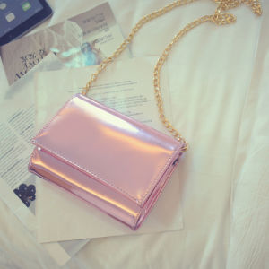 Shiny PU Leather Silver&Gold Handbag pictures & photos
