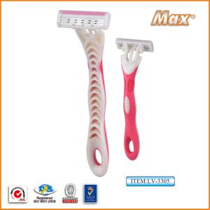 New Triple Stainless Steel Blade Disposable Shaving Razor (LV-3305) pictures & photos