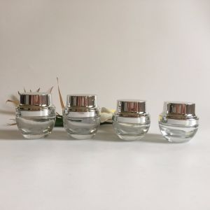 30g Transparent Glass Jar with Silver Aluminum Lid pictures & photos
