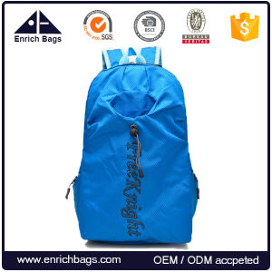 Factory Price Foldable Bag Lightweight Travel Backpack with Bottle Holder pictures & photos