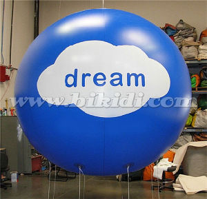 Inflatable Blue Round PVC Helium Balloon for Sale K7054 pictures & photos