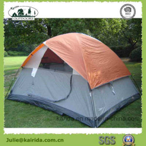 4 Persons Double Layers Camping Tent with Half Cover pictures & photos