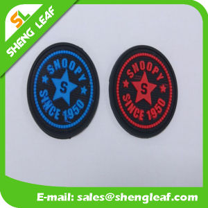 Rubber 3D Patch Trademark Customized with Hook & Loop pictures & photos