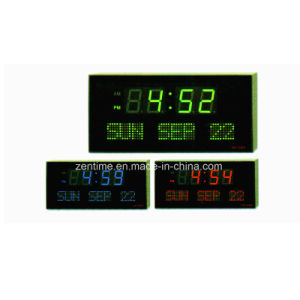 Electronic LED Digital Wall Time Clock with Week Days and Date Display pictures & photos