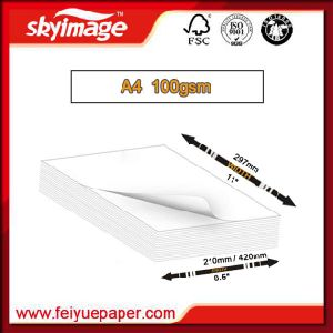 Fast Drying Rate 100g A4 Size Sublimation Transfer Paper for Flat Heat Press Machine pictures & photos