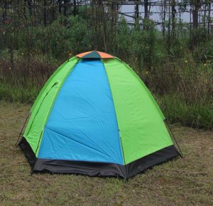 Blue and Green 78.7 X 55 X 43.3-Inches 2-Person D-Shape Door Tent pictures & photos