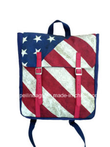 Fashion Flag Canvas Laptop Backpack