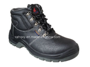 Embossed Leather Basic Safety Shoes (HQ648) pictures & photos