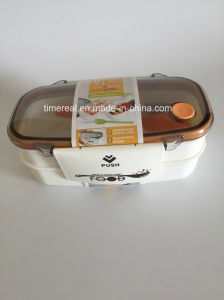 Stainless Steel Food Box Carrier with Hand Xg-008 pictures & photos