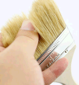 Wooden Handle Pure Bristle Painting Brush pictures & photos