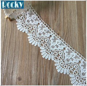 Factory Price Polyester Lace Trimming Milk Fiber Lace pictures & photos