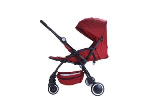 European Standard Aluminum Frame Fold Baby Strollers with Car Seat pictures & photos