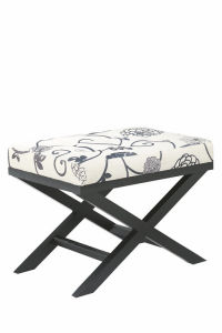 Fabric Ottoman with Wood Frame