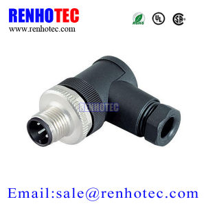 Circular Aviation Right Angle M12 3pin Plastic Assembly Cable Type Connector pictures & photos