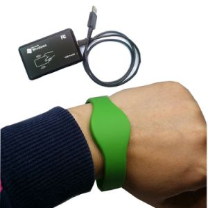 125kHz Ntag213 NFC RFID Wristband/Silicone Wrist Band pictures & photos